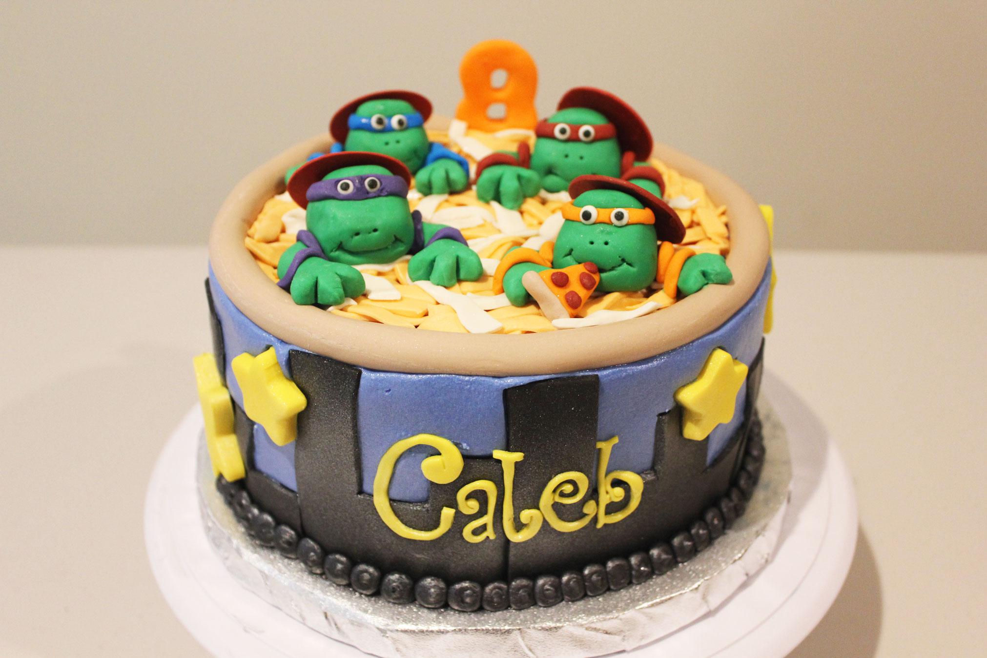 Ninja Turtle Birthday Cake Bazzlesbakery